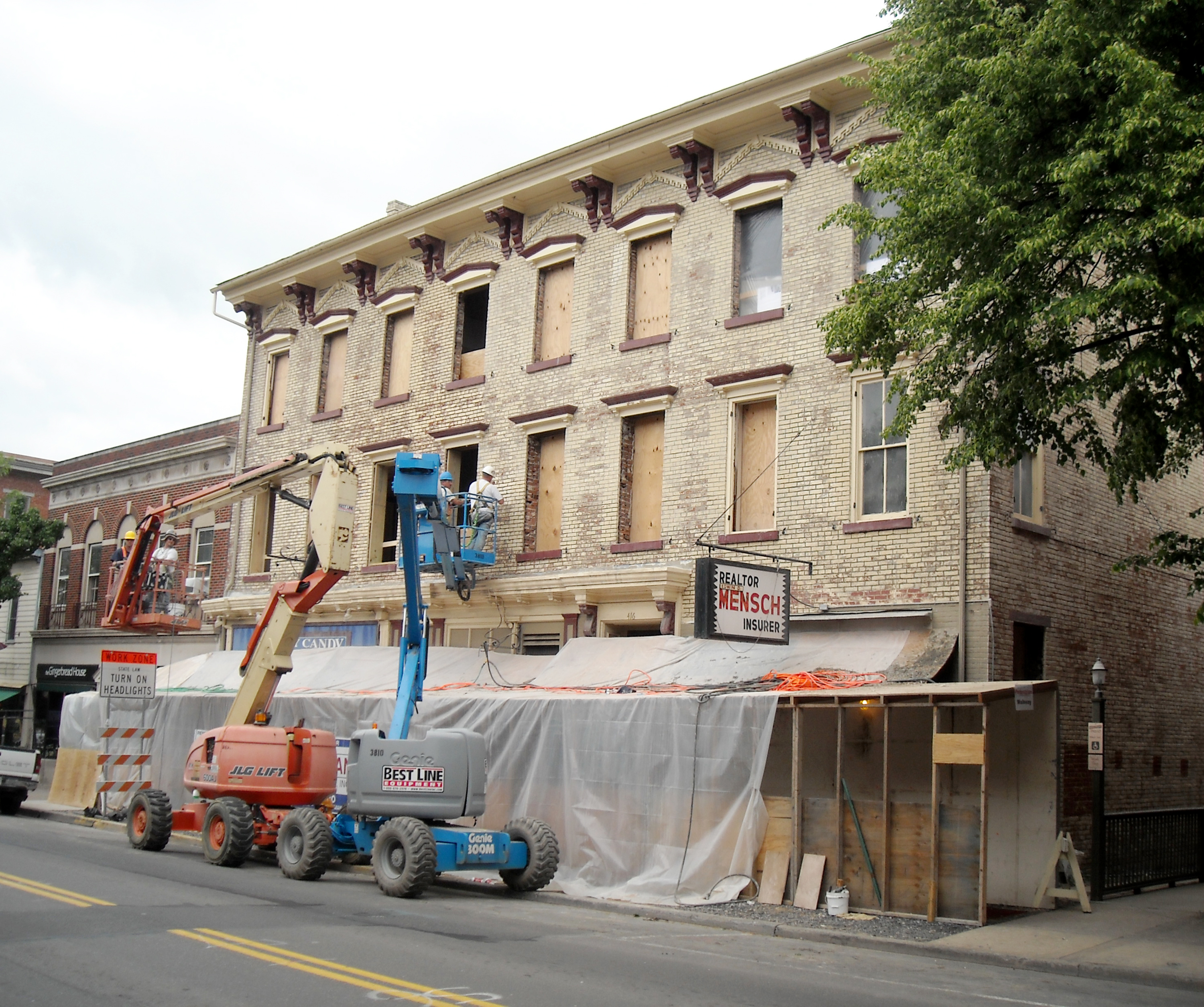 Renovations of the DeWitt Building at Bucknell University.