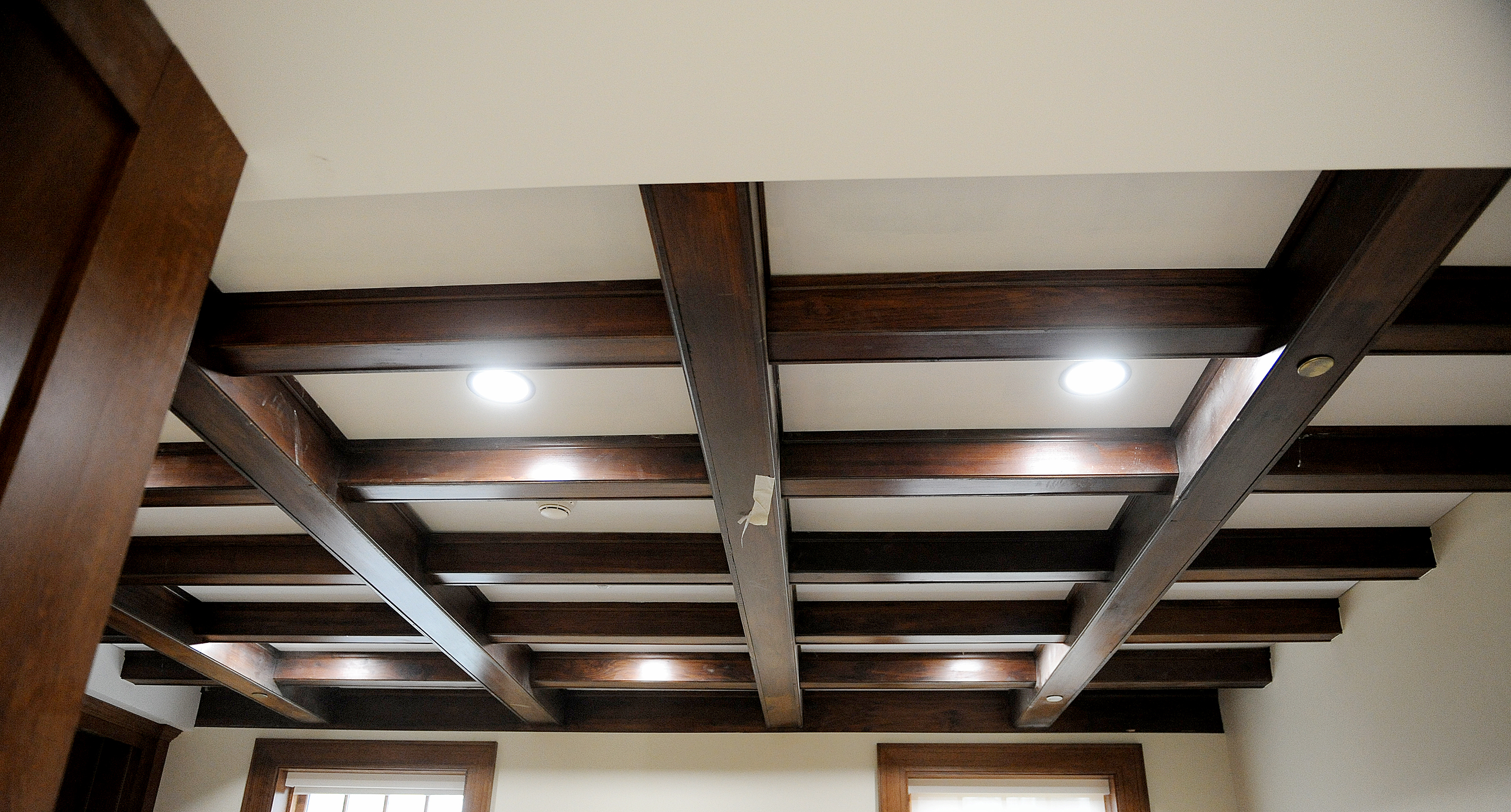 This ceiling was preserved during the renovation process at Hildreth-Mirza Hall at Bucknell University.