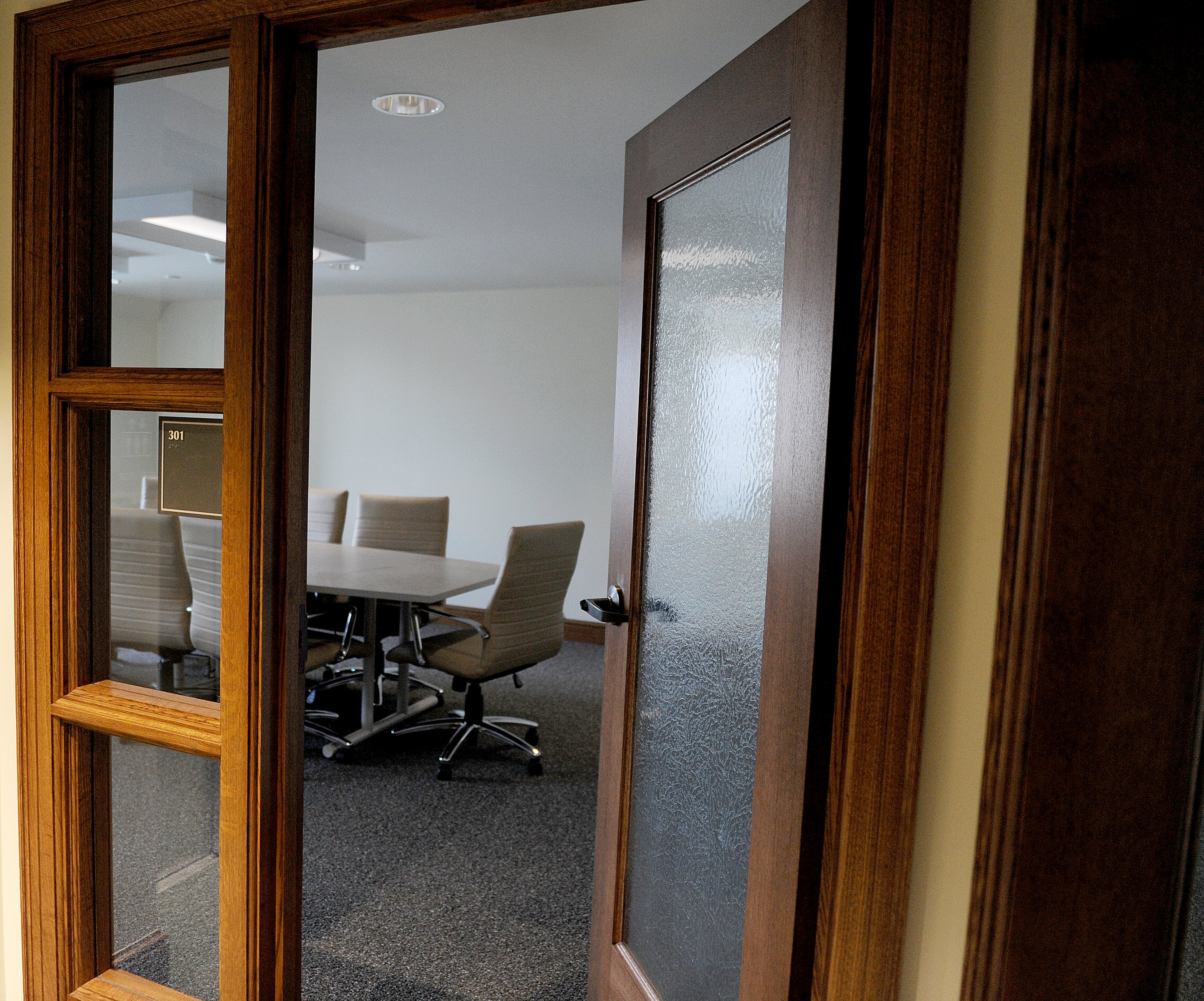 One of the new conference rooms at Hildreth-Mirza Hall at Bucknell University.