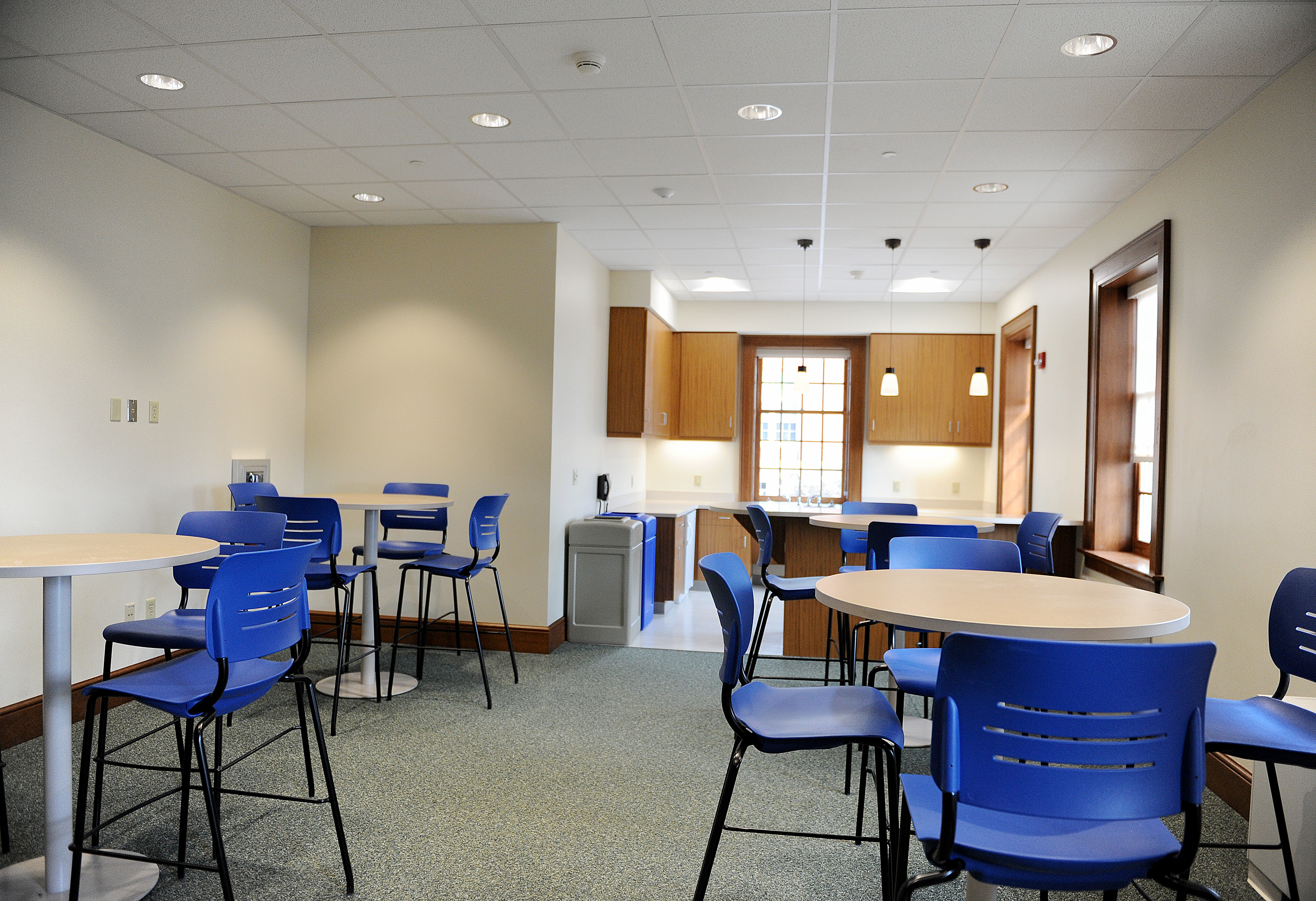 The new kitchenette/cafe at Hildreth-Mirza Hall at Bucknell University.