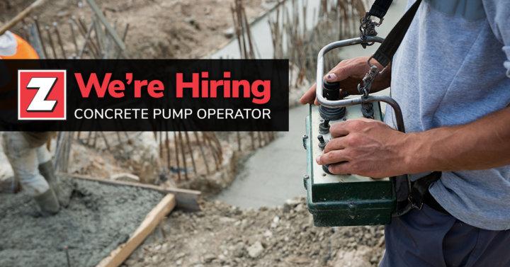Concrete Pump Operator Zartman Construction Inc