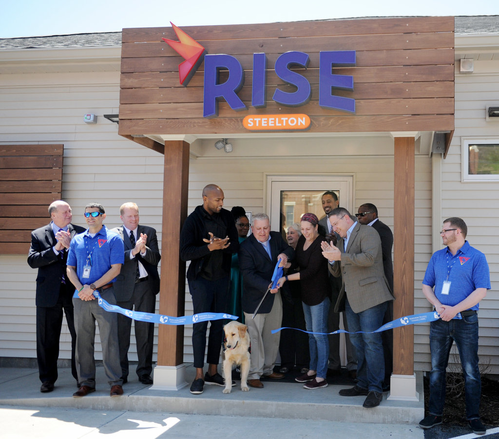 The ribbon is cut at RISE Steelton.