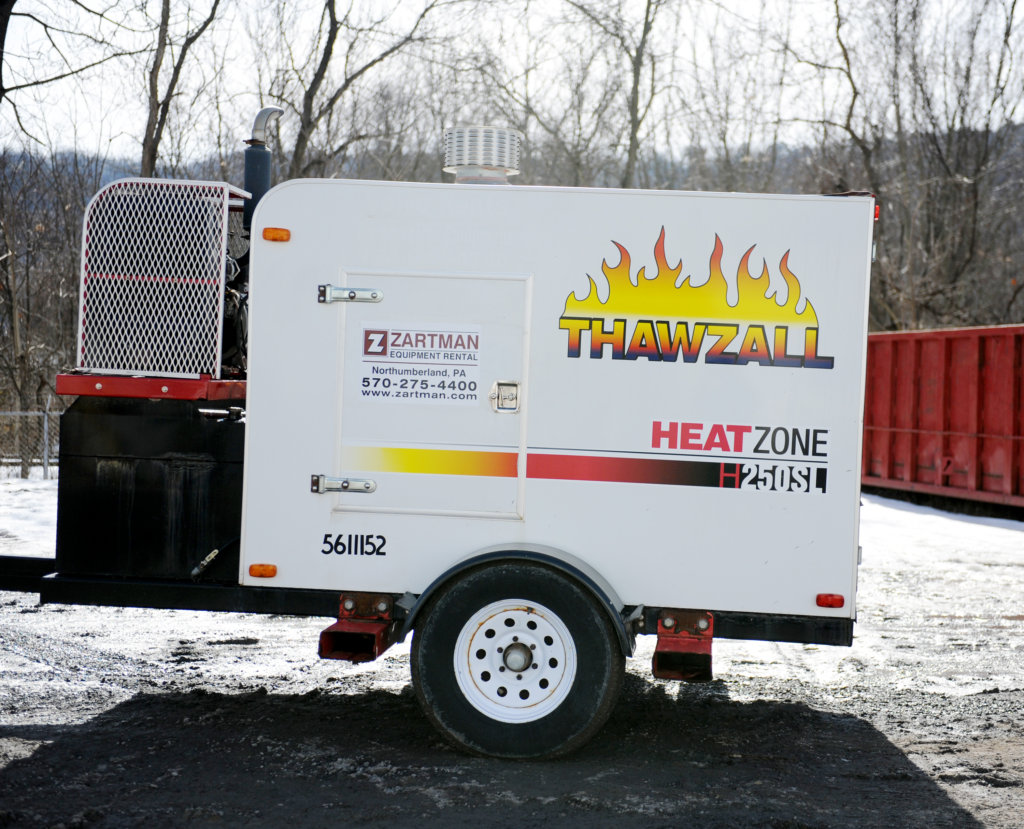 A thawzall rental can help keep you working on the coldest days.