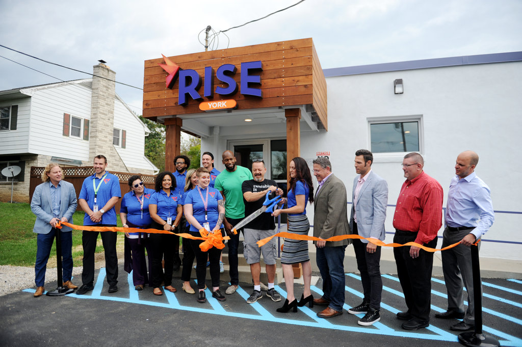The ribbon is cut at RISE York.