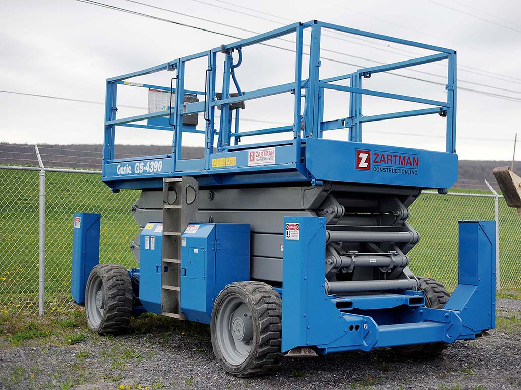 Scissor Lift Rental | Zartman Construction, Inc