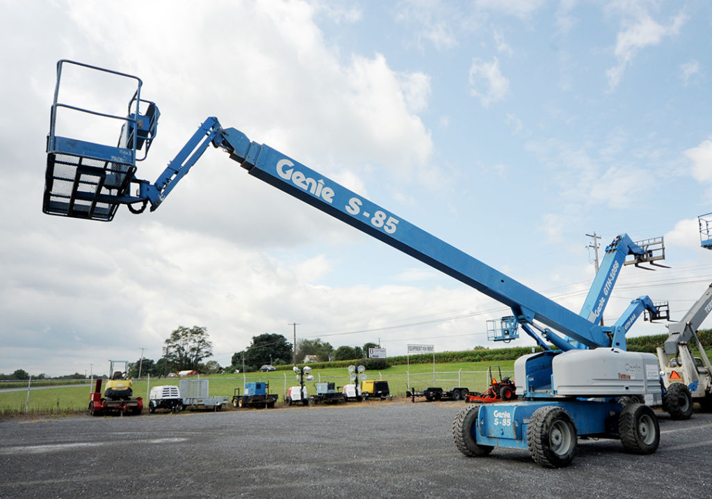 Genie S-85 telescopic boom lift rental